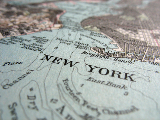 Map of New York (not from Google Maps or a Local Website)