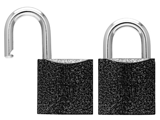 Locked and unlocked hacked website