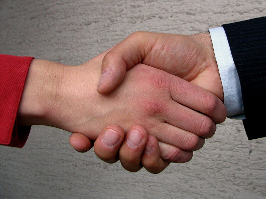 Handshake -- building a relationship with your customers