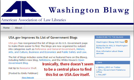 federal government blogs