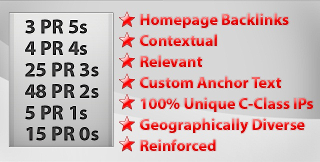 Homepage Backlinks Service