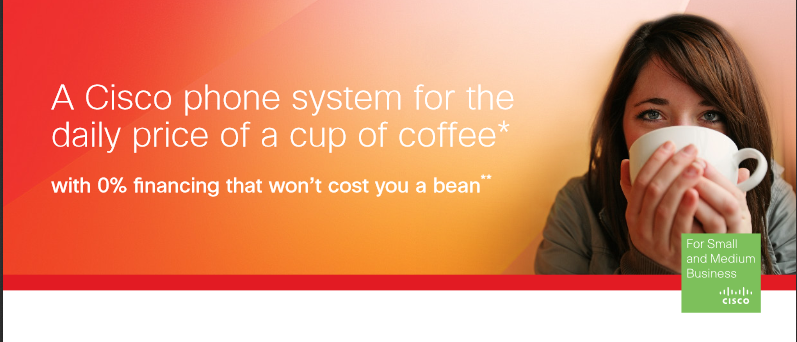 cisco phone system about the price of a cup of coffee
