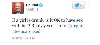 Dr. Phil Twitter Faux Pas