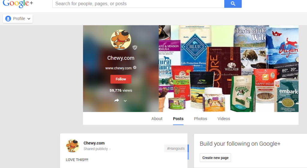 Google Plus Chewy