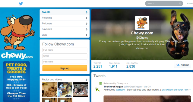 Twitter Chewy.com